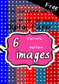 6 Patriotic pattern(stars) background clipart 300 pdi png F
