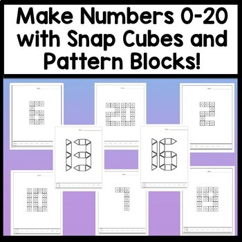 Number Activities with Pattern Blocks {21 Pages} {Math Centers for Kindergarten}