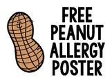 Free Peanut Allergy Sign