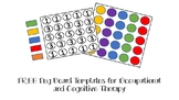 Free! Peg Board Templates for Occupational or Cognitive Therapy