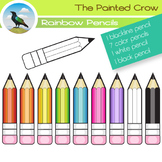 Free Pencil Clipart -  Color and Black Line