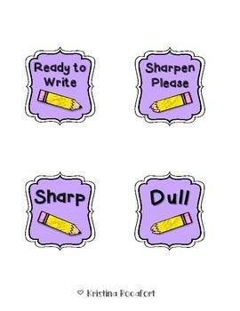 Free Pencil Labels