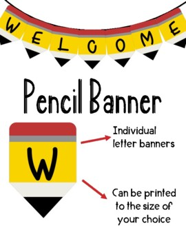 Free Pencil Welcome Banner