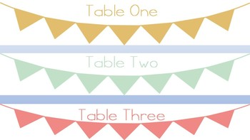 Free Pendant Table Tags