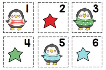 Free Penguin Number Cards