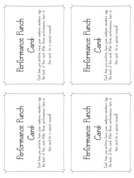 Free! Performance Punch Cards