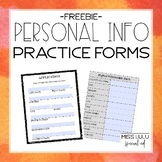 Free Personal Information Practice Forms