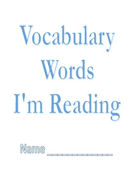 Free Personal Vocabulary Book