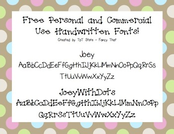 Free Personal and Commercial Use Handwritten Fonts!