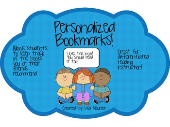 Free Personalized Bookmarks