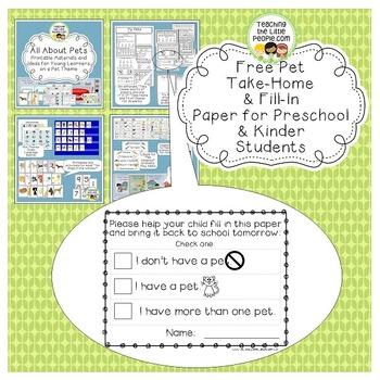 Free Pet Take Home Paper
