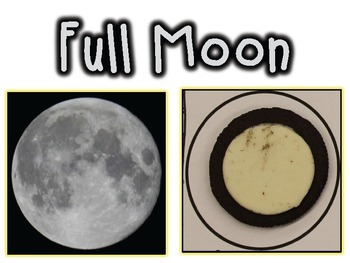 Free! Phases of the Moon Visuals and Examples {With Oreo C