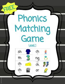 FREE Phonics Matching Game - Level 1