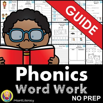 Free Phonics Word Work Guide