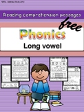 Free Phonics reading comprehension passages and activities Long vowel