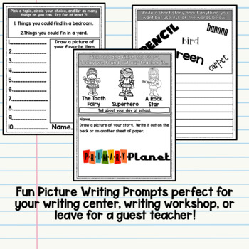 Picture Writing Prompts Free Sample
