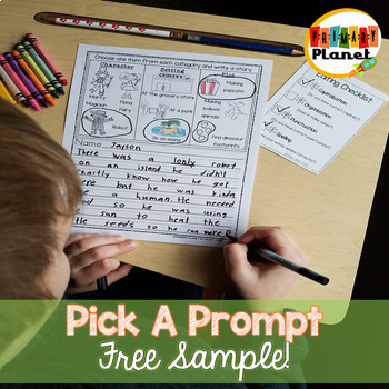 Pick A Prompt | Writing Prompts with Pictures | Picture Writing Prompts FREE