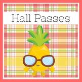 Pineapple Classroom Theme | Hall Passes
