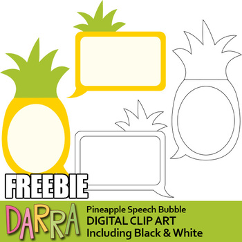 Free Pineapple Speech Bubble Clipart