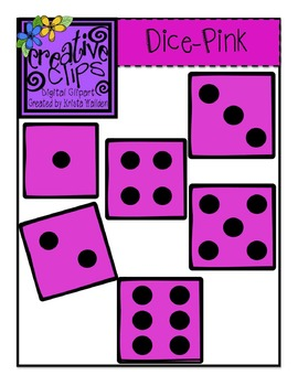 {Free} Pink Dice Clipart {Creative Clips Digital Clipart}