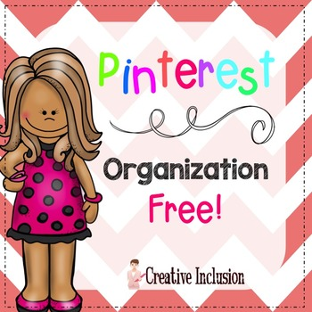 Free Pinterest Organization Editable Form