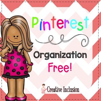 Free Pinterest Organization Editable Form