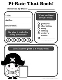 Free Pirate Themed Book Review Worksheet for Elementary Readers
