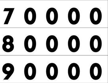 Free Place Value Cards: Low Ink and Low Paper: 0 to 90,000