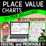 Place Value Charts to the Billions   TPT Featured   Digital and Printable