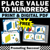FREE Ones Tens Hundreds Place Value Task Cards 2nd Grade M