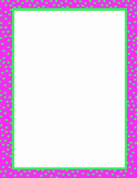 Polka Dot Borders & Backgrounds