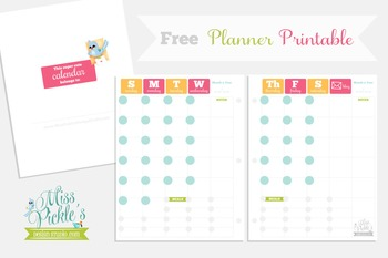 Free Planner Printable- Pink and Orange