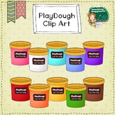 Free Play Dough Clip Art - Rainbow Containers - Personal o