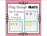 Free Play Dough Mats - Ten Frames