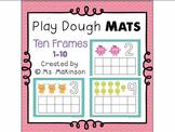 Free Play Dough Mats - Ten Frames