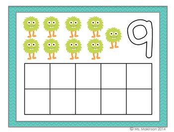 image relating to Free Printable Playdough Mats named Cost-free Engage in Dough Mats - 10 Frames