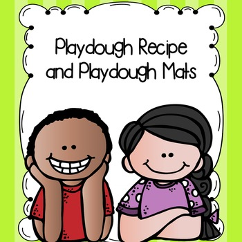 FREE Playdough Recipe and Playdough Mats
