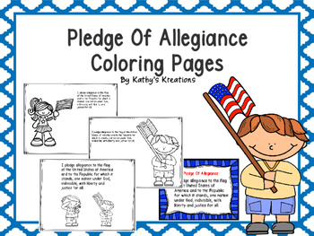 Free Pledge Of Allegiance Color Pages