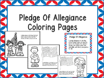 Free Pledge Of Allegiance Coloring Pages