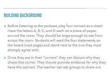 Free Handout to use with Podcast to Teach Informational Text
