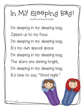 Free Poem:  In My Sleeping Bag {From My Blog Post:  Let's Go Camping!}
