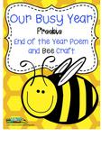 Free Poem and Bee Craftivity