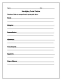 Free Poetic Devices Graphic Organizer