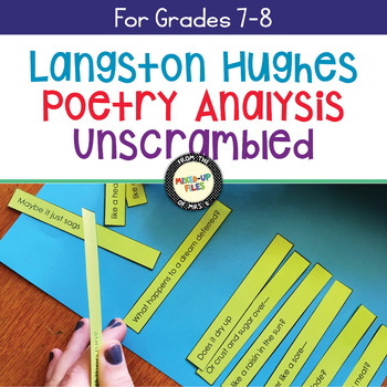 Free Poetry Activity Langston Hughes