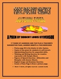 """Free Poetry Packet with Worksheets for """"Autumn Fires"""" by Robert Louis Stevenson"""