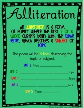 Poetry Posters to Explain Poetic Forms FREE