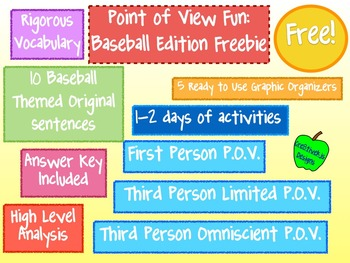 Free Point of View Fun!:  Baseball Edition Freebie!