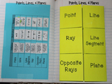 Free Points, Lines, and Planes Foldable for Geometry Interactive Notebook