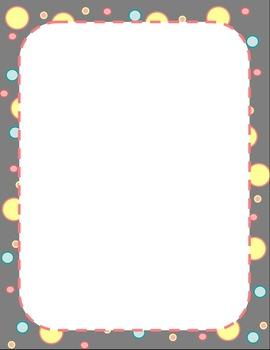 Free Polka Dot Border