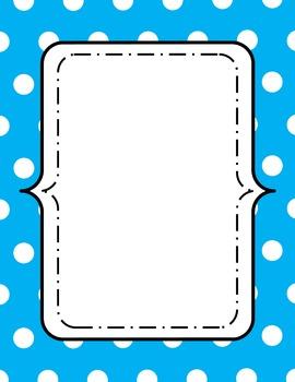 Polka Dot Digital Frames